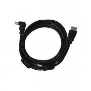 Cabo HDMI 3m (1 plug reto e 1 plug 90º) Bestfer