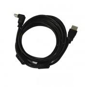 Cabo HDMI 5m (1 plug reto e 1 plug 90º) Bestfer