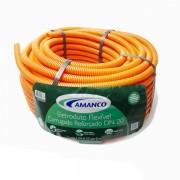 Conduíte flexfort laranja rolo 20mm x 50m Amanco