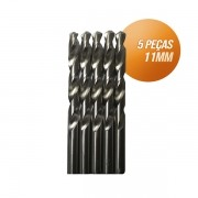 Kit broca aço rápido c/ 05 peças din338 hss 11mm Bestfer