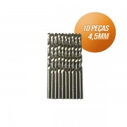 Kit broca aço rápido c/ 10 peças din338 hss 4,5mm Bestfer