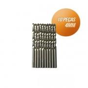 Kit broca aço rápido c/ 10 peças din338 hss 4mm Bestfer