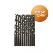 Kit broca aço rápido c/ 10 peças din338 hss 6,5mm Bestfer