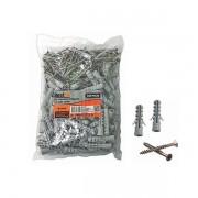 Kit parafuso phillips 10mm x 50mm e bucha nylon 5mm x 60mm 100 peças Bestfer