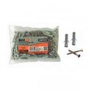 Kit parafuso phillips 6mm x 30mm e bucha nylon 3,5mm x 35mm 100 peças Bestfer
