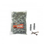 Kit parafuso phillips 8mm x 40mm e bucha nylon 4,0mm x 45mm 100 peças Bestfer