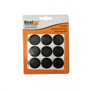 Protetor adesivo eva redondo preto 3cm | 10g c/ 18 peças Bestfer