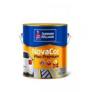Tinta Novacor piso premium 1/4 amarelo demarcação Sherwin Williams