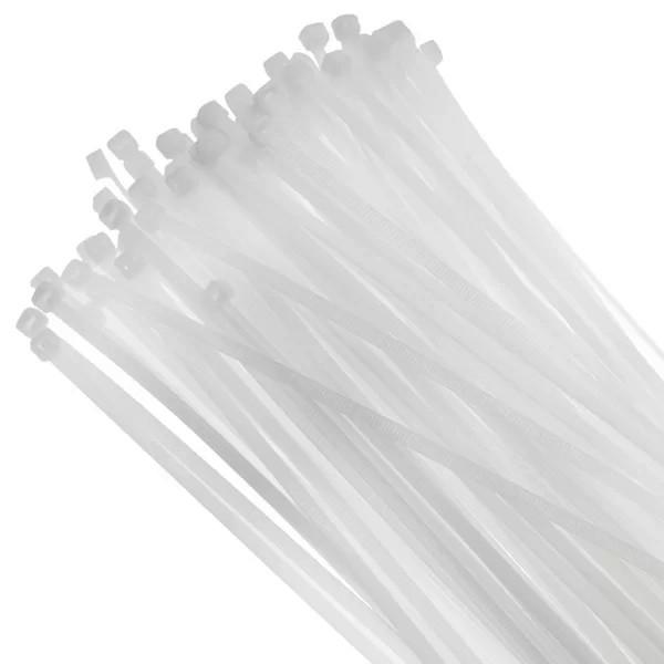 Abraçadeira nylon branca 7.6mm x 500mm pacote c/ 50 peças Bestfer