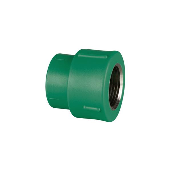 Adaptador de transição fêmea/fêmea metálico PPR 20mm x 1/2 (14222)  Amanco