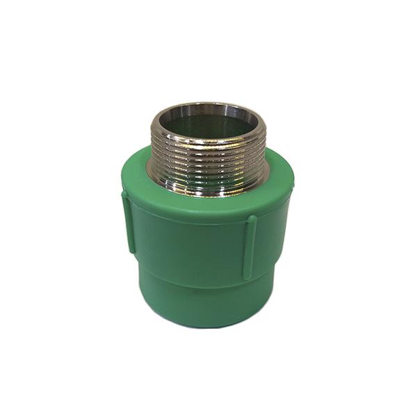 Adaptador de transição fêmea/macho metálico PPR 20mm X 3/4 - (14623)  Amanco