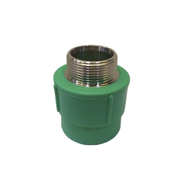 """Adaptador de transição fêmea/macho metálico PPR 40mm X 11/4"""" Amanco"""