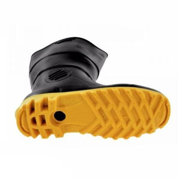 Bota PVC preta c/ solado amarelo Bestfer