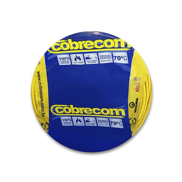 Cabo flexível 10,0mm x 100m 450V|750V Amarelo Cobrecom