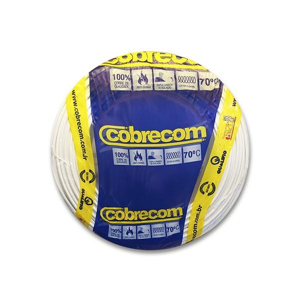 Cabo flexível 10,0mm x 100m branco Cobrecom