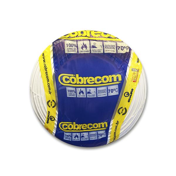 Cabo flexível 2,5mm x 100m 450V 750V branco Cobrecom