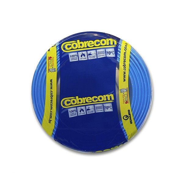 Cabo flexível 2,5mm x 100m Azul Cobrecom