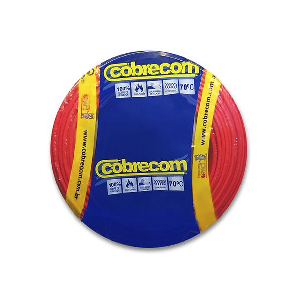 Cabo flexível 4,0mm x 100m 450V|750V Vermelho Cobrecom