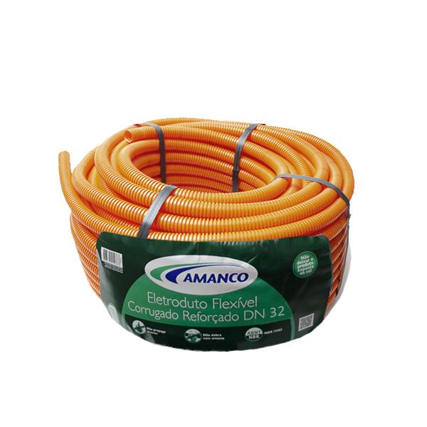 Conduíte flexfort laranja rolo 32mm x 25m (11914) Amanco