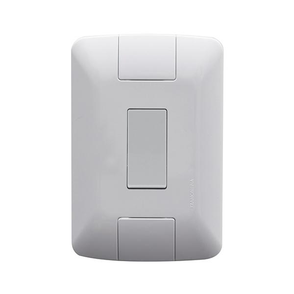 Conjunto 1 interruptor paralelo 6A/250V Tramontina