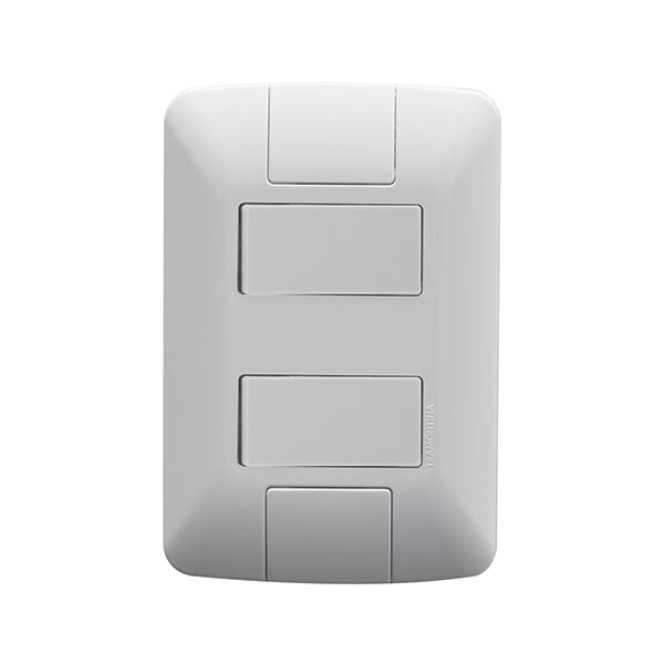Conjunto 2 interruptores simples 6A/250V Tramontina