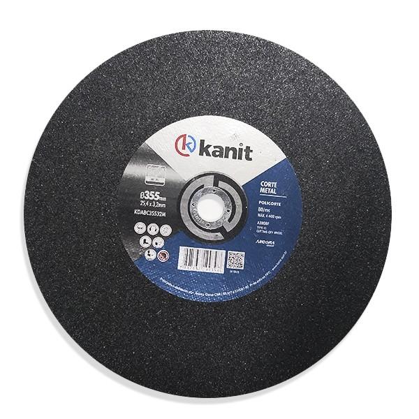 Disco abrasivo de corte metal reforçada 355mm Kanit