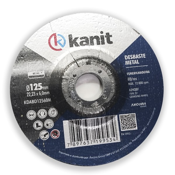 Disco abrasivo de desbaste 125mm Kanit