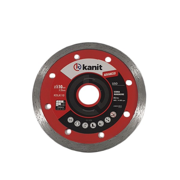 Disco diamantado liso advanced 110mm Kanit