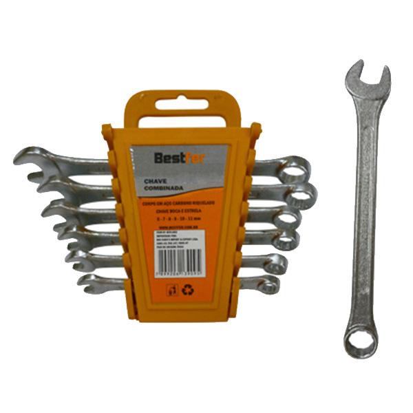 Jogo de chave combinada 6 peças 6mm - 11mm (BFH1052) Bestfer