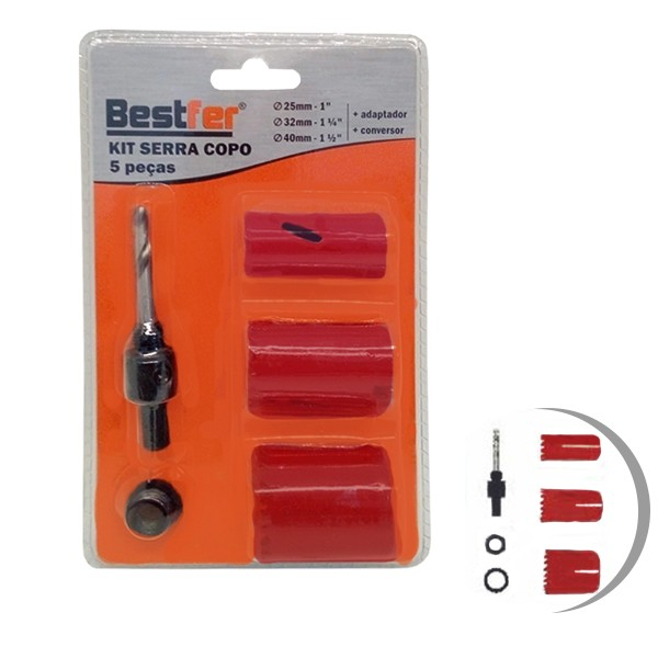 Kit serra copo bimetal c/ 5 peças Bestfer