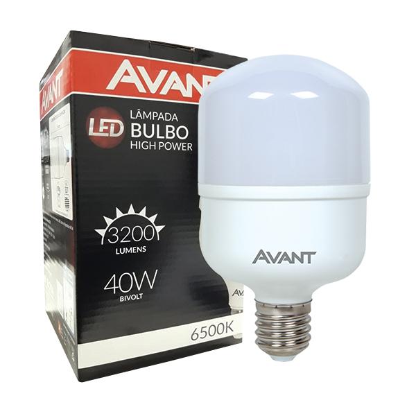 Lâmpada super bulbo led 40W fria 6500K alta potência Avant