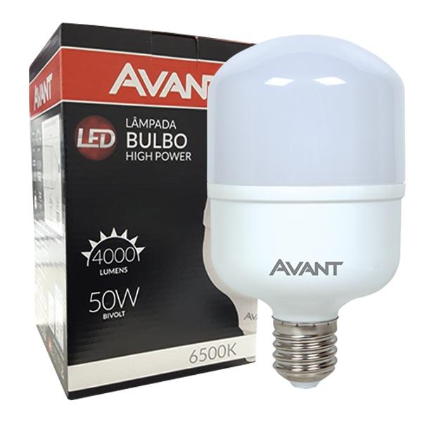 Lâmpada super bulbo led 50W fria 6500K alta potência Avant