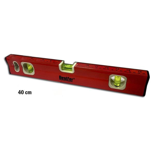 Nível alumínio imantado vermelho 40cm Bestfer (BFH1429)