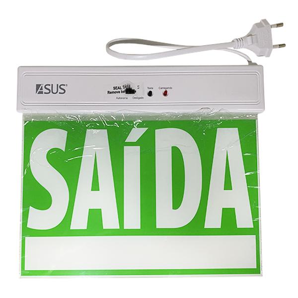 Placa de sinalização de saída de emergência AS08 Asus