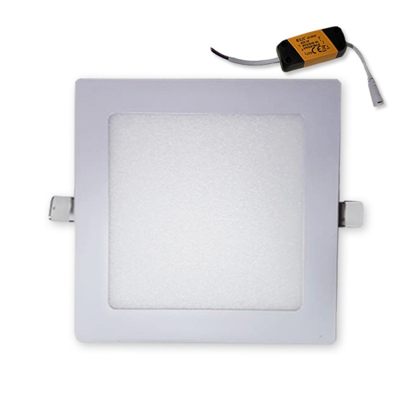 Plafon embutir quadrado 12W fria 6500K PQ12W Asus