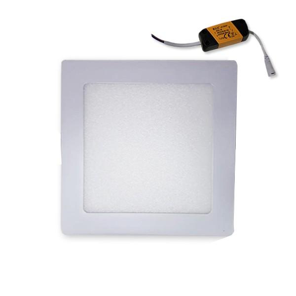 Plafon sobrepor quadrado 6W fria 6500K PSQ06W Asus