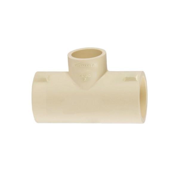 Tê de redução CPVC 54mm x 22mm - Amanco