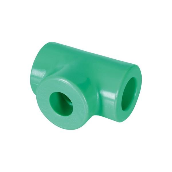 Tê de redução extrema e central fêmea PPR 32mm x 20mm x 25mm Amanco