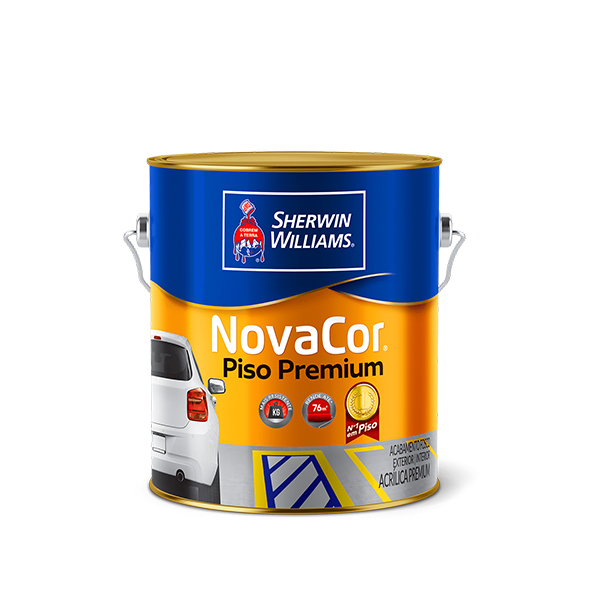 Tinta Novacor piso premium 1/4 amarelo Sherwin Williams
