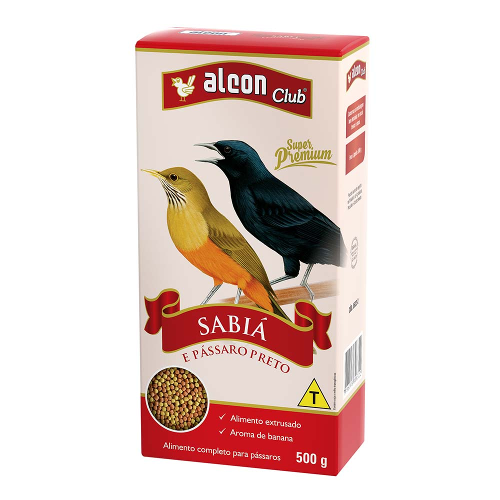 Alcon Club Sabiá e Pássaro Preto - 500g