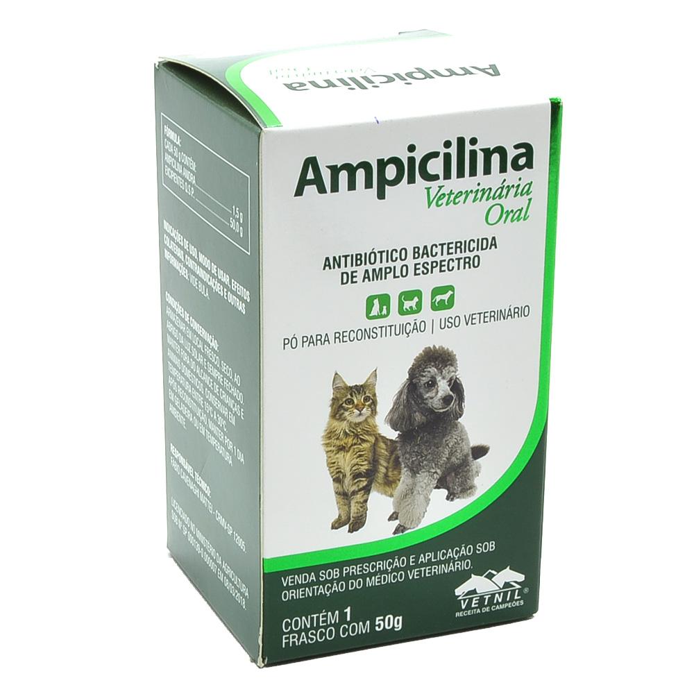 Ampicilina Veterinária Oral - 50g