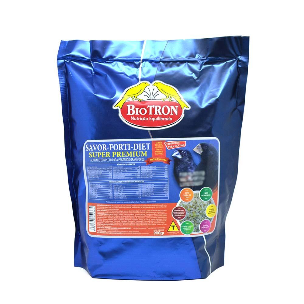 Biotron Farinhada Savor-Forti-Diet - 900g - Curiós, Bicudos e Azulões