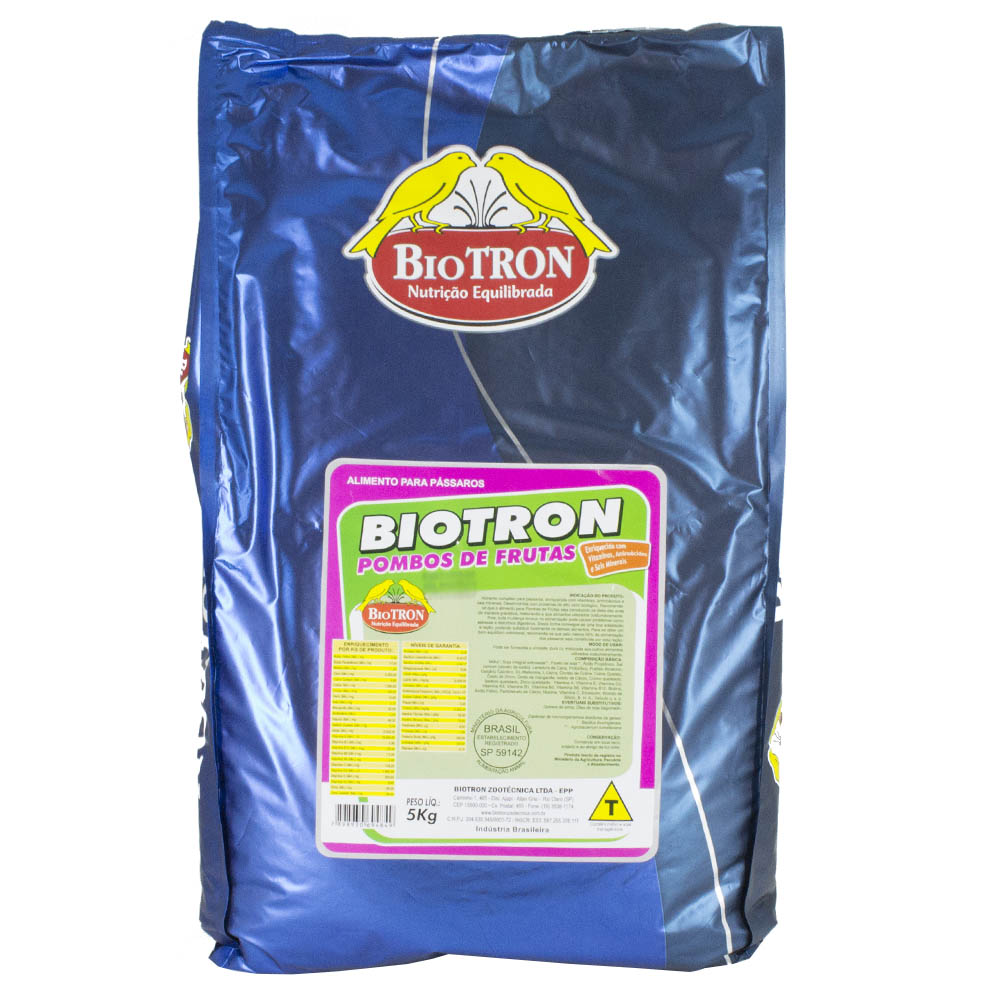 Biotron Pombos de Frutas - 5kg