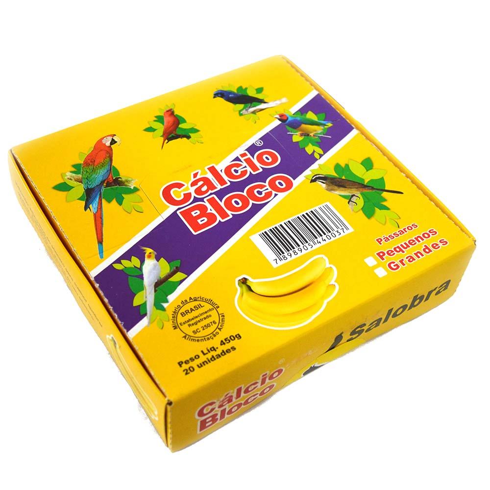 Cálcio Bloco Banana - Encaixe universal - Cx 20 unidades
