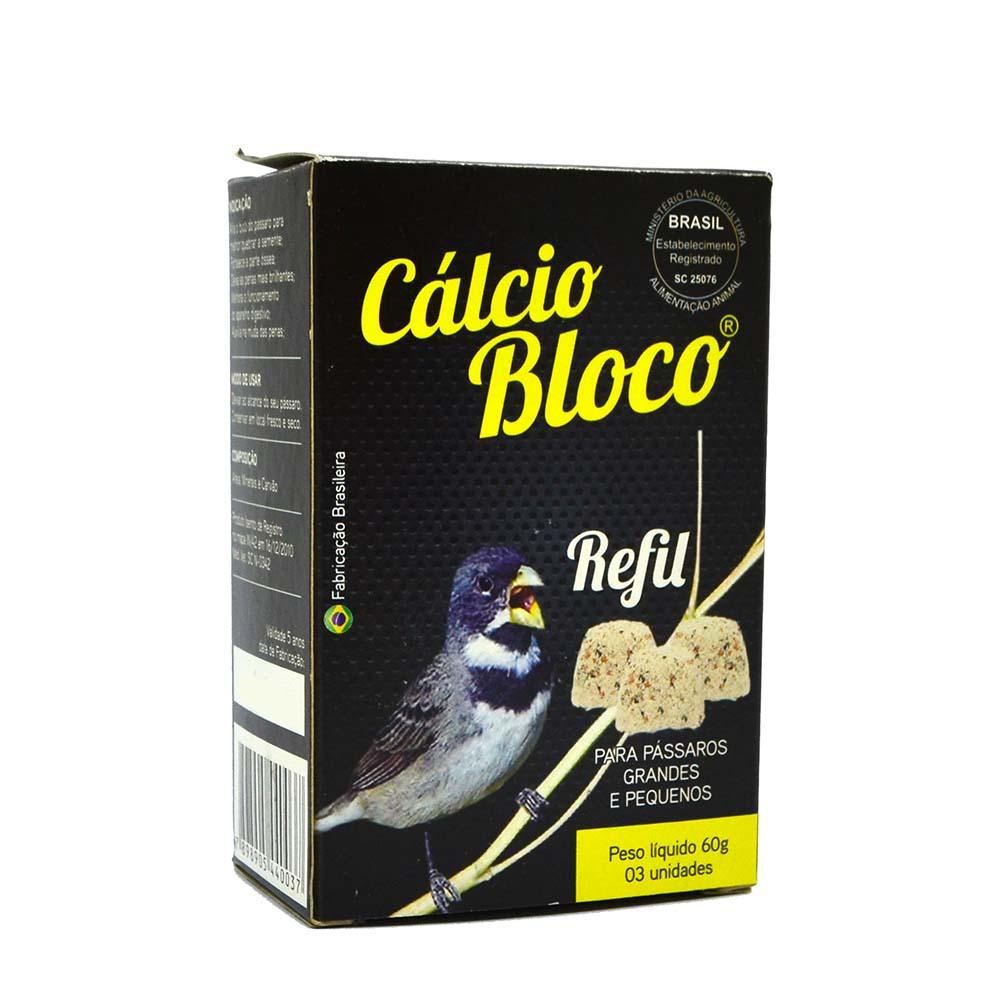 Cálcio Bloco Coleirinha - Refil - 3 unidades