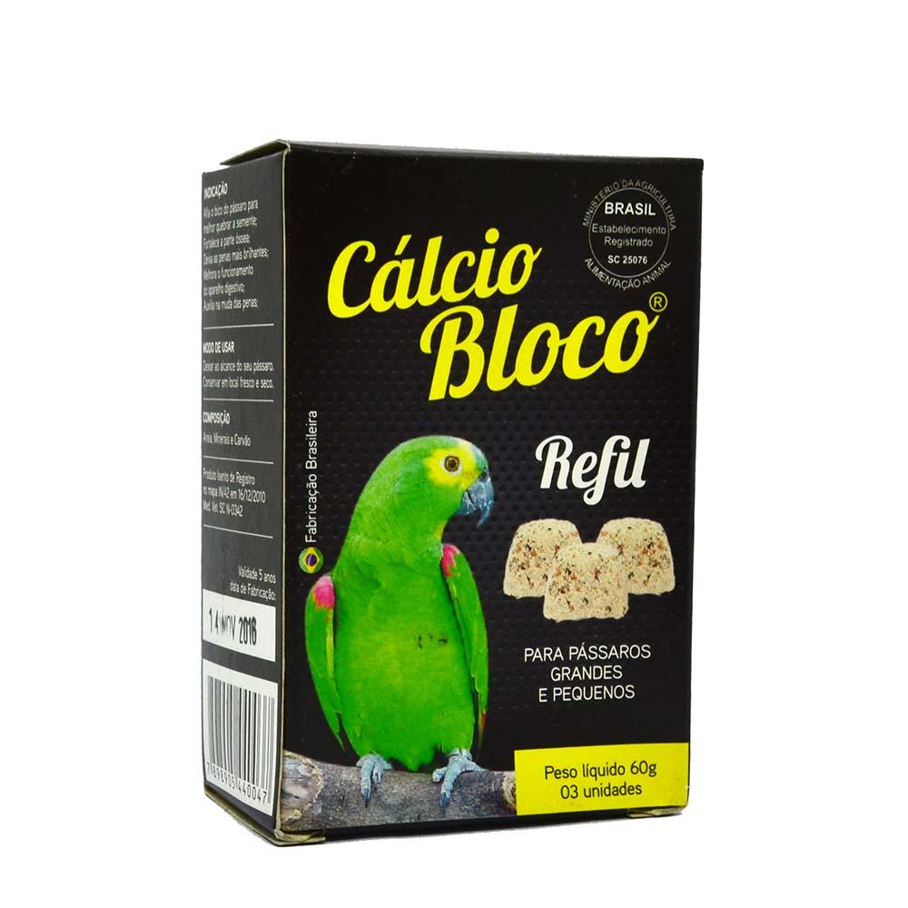 Cálcio Bloco Papagaio - Refil - 3 unidades