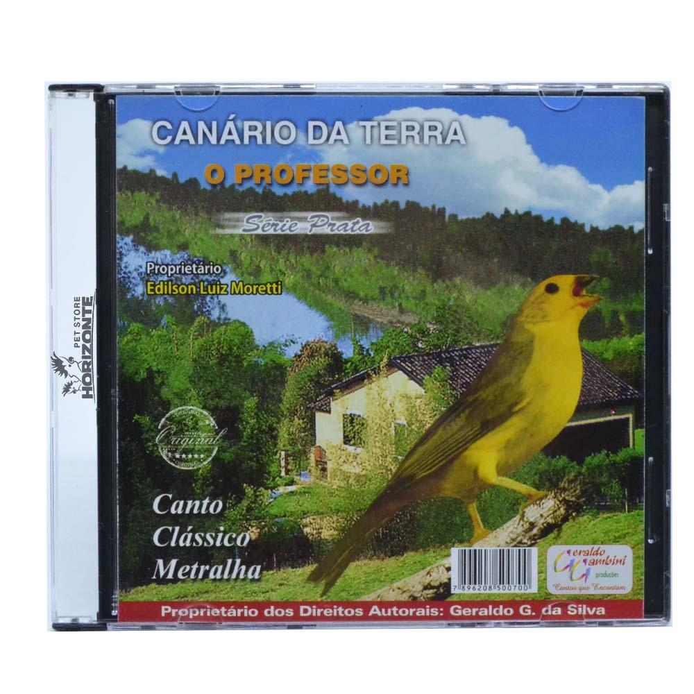 CD - Canário da  Terra - O Professor - Série Prata