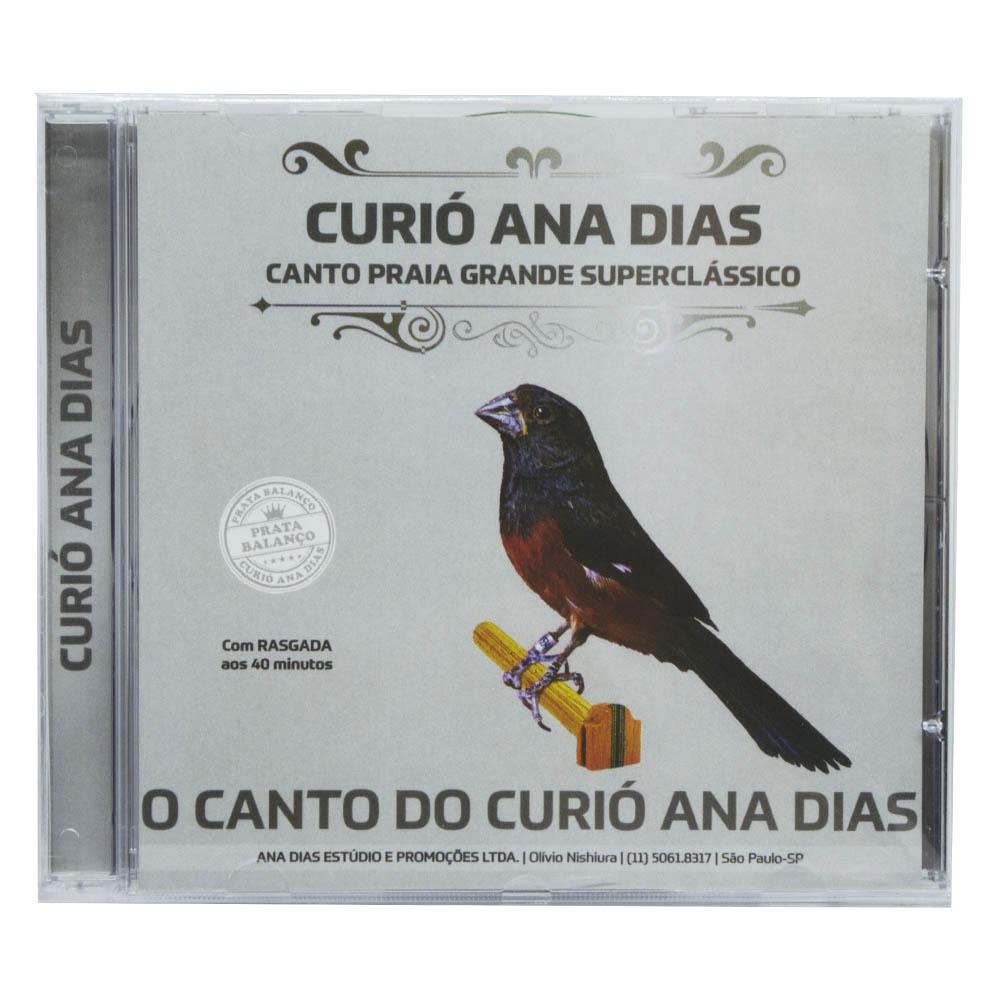 CD - Canto do Curió Ana Dias - Prata  Balanço