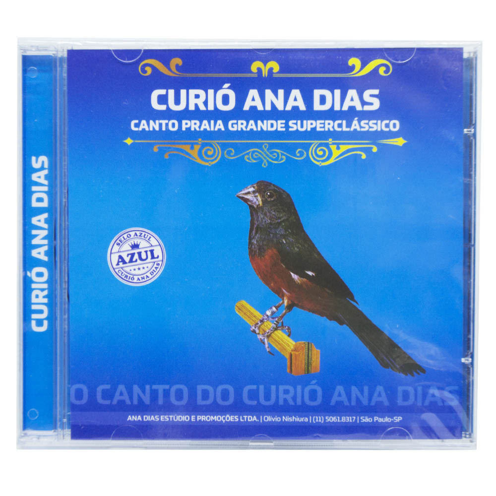 CD - Curió Ana Dias - Selo Azul