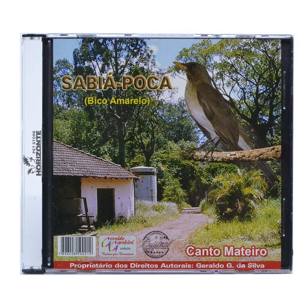 CD - Sabiá Poca ''Bico Amarelo''
